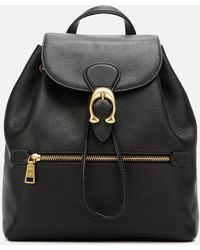 COACH Polished Pebble Leather Evie Backpack - Black