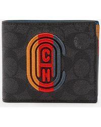 COACH 3 In 1 Signature Wallet - Multicolour