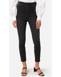 J Brand Natasha Sky High Crop Skinny Jeans - Blue