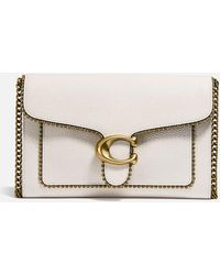 COACH Polished Pebble Bead Chain Tabby Chain Clutch - Multicolor