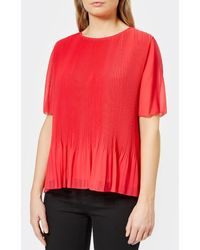 PS by Paul Smith - Women's Pleated Top - Lyst