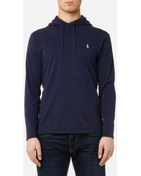 Polo Ralph Lauren Navy Blue Hooded Long Sleeve T-shirt