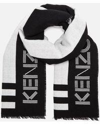 KENZO Sport Logo Scarf - Black