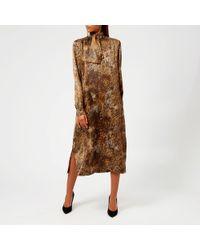 Saks Potts Poppy Animal Dress With Ribbon - Brown