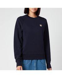 Maison Kitsuné Sweatshirt Fox Head Patch - Blue