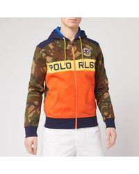 Polo Ralph Lauren Camo Zip Up Hoodie - Green