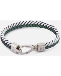 Tod's - Men's Leather Pleated Bracelet - Lyst