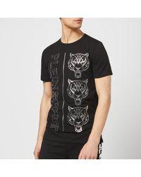 Philipp Plein Round Neck Tiger T-shirt - Black