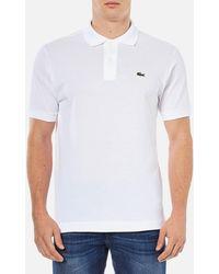 Lacoste Classic Fit Pique Polo Shirt - White