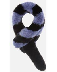 Charlotte Simone Women's Popsicle Faux Fur Scarf - Black