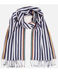 Paul Smith - Accessories Men's Two Stripe Scarf - Lyst