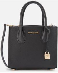Michael Kors Mercer Medium Acrdion Messenger Bag - Black