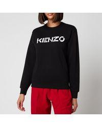KENZO Classic Fit Sweatshirt Logo - Black