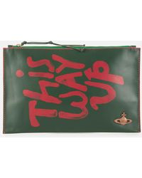 Vivienne Westwood I Am Expensive Pouch - Green