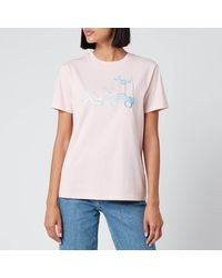 COACH Chinese Collective Logo T-shirt - Pink