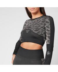 adidas By Stella McCartney Truepurpose Long Sleeve Crop Top - Black