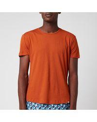 Orlebar Brown Ob-t Round Neck T-shirt - Orange