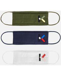 KENZO Pack Of 3 Masks - Green