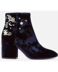Ash - Women's Elixir Velvet Heeled Ankle Boots - Lyst