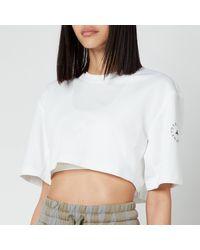 adidas By Stella McCartney Asmc Future Playground Crop T-shirt - White