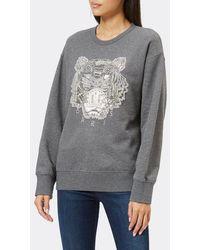 KENZO - Women's Beaded Tiger Molleton Sweatshirt - Lyst