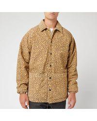 YMC Leopard Print Suede Jocks Jacket - Brown