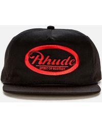 Rhude Graphic 7 Cap - Black