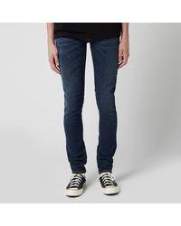Nudie Jeans Skinny Lin Jeans - Blue
