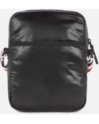 Thom Browne Cross Body Camera Bag With Rwb Strap - Black