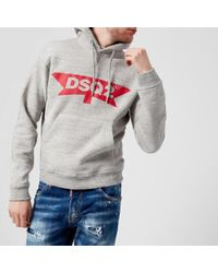DSquared² - Men's Dsq2 Logo Dan Fit Hoody - Lyst