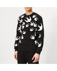 McQ Swallow Swarm Pigment Sweatshirt - Black