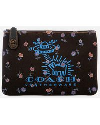 COACH - Women's X Keith Haring Turnlock 26 Pouch - Lyst