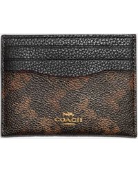 COACH Horse And Carriage Flat Card Case - Black
