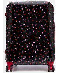 Lulu Guinness - Women's Medium Confetti Lip Print Hardside Suitcase - Lyst