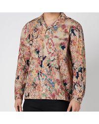 YMC Rayon Cotton Floral Feathers Shirt - Multicolour