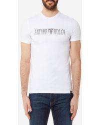 Emporio Armani - Men's Shadow Logo Tshirt - Lyst