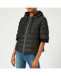 Herno - Short Jacket With Hood And Cropped Sleeve - Lyst
