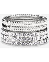 Cole Haan - Brilliant Cubic Zirconia Swarovski Stacked Ring Set - Lyst