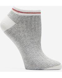 Cole Haan - Melange Rib Low Cut Socks - Lyst