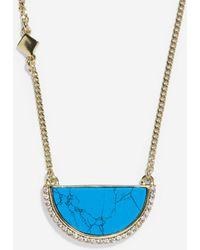 Cole Haan - Spring Street Fashion Semi-precious Half-moon Pendant Necklace - Lyst