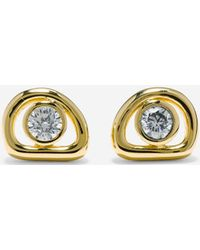 Cole Haan - Organic Rings Studs With Cubic Zirconia Center Earrings - Lyst