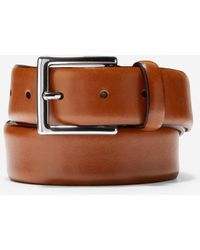 Cole Haan Made In Italy Smooth Leather Belt - Brown
