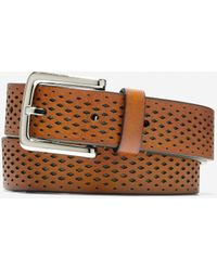 Cole Haan Washington Grand 32mm Laser Perforated Belt - Brown