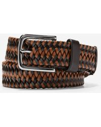 Cole Haan Two Tone 32mm Braided Belt - Brown