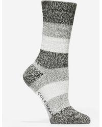 Cole Haan Plush Twist Crew Socks - Black