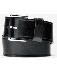 Cole Haan - Wide Smooth Leather Belt - Lyst
