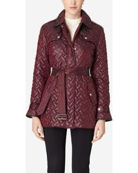 Cole Haan - Single Breasted Quilted Trench Coat - Lyst