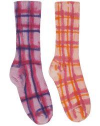 Collina Strada Socks Pink Plaid