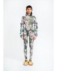 Collina Strada Gecko Ruffle Skirt Bodysuit - Multicolour