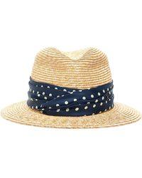 Maison Michel New Abby Tweed Hat - Multicolour